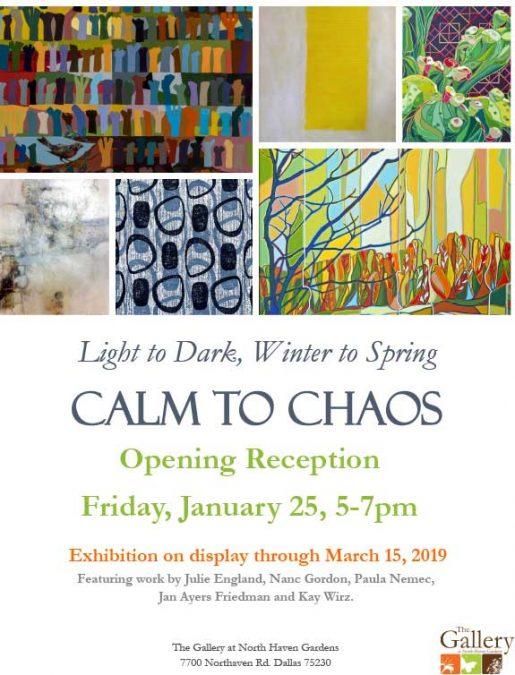 Art Reception, Friday, 1/25/19, 5-7 pm at The Gallery at NHG