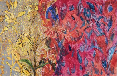 Day Lilies in Red Neighborhood – SOLD